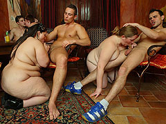 The three fat chicks at this orgy are more than ready to have some great sex with horny guys