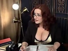Chubby sexy secretary spoils dude