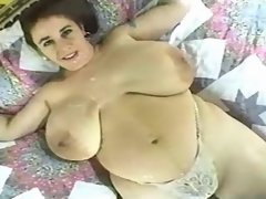 Fatty w big boobs drinking own milk
