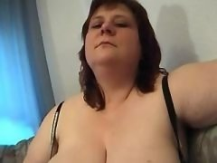 Mature BBW sucking cock and relax