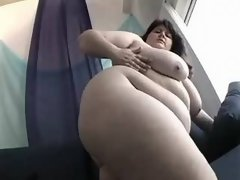 Gorgeous fatty with big round butt